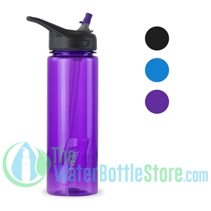 24oz EcoVessel WAVE BpA-free Sports Water Bottle with Straw