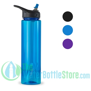 32oz EcoVessel WAVE BpA-free Sports Water Bottle with Straw