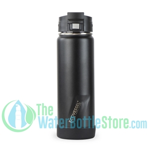 20oz EcoVessel PERK Insulated Tea and Coffee Mug Bottle Black Shadow