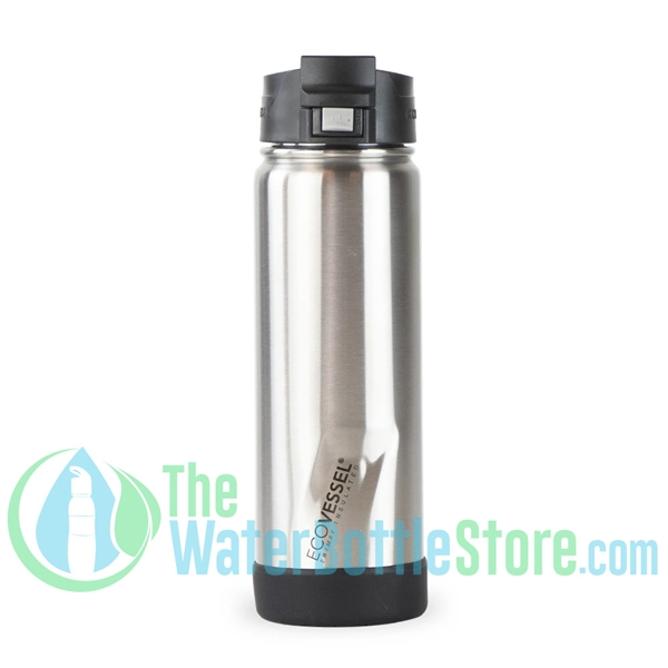 20oz EcoVessel PERK Insulated Tea and Coffee Mug Bottle Silver Express
