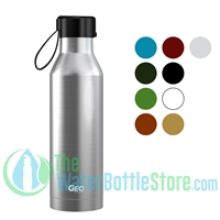 GEO 17oz Rubber Coated Stainless Steel Sports Bottle