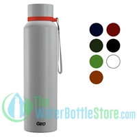 GEO 28oz Stainless Steel Widemouth Sports Water Bottle
