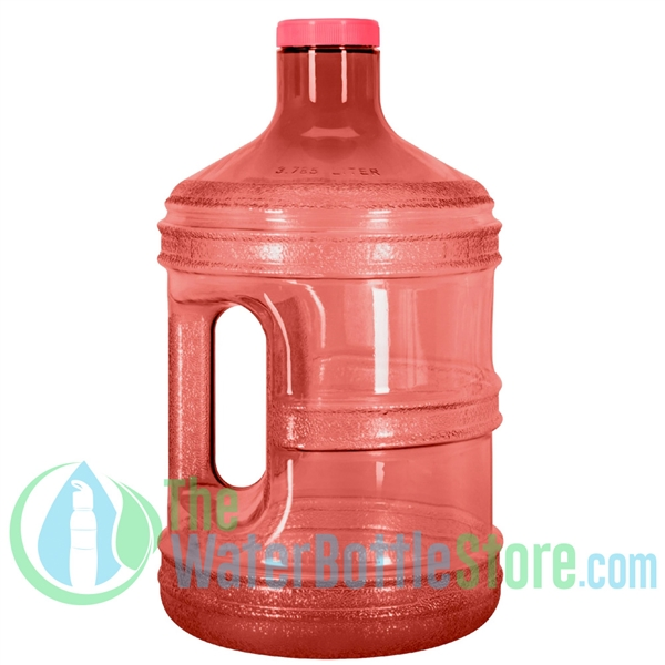 1 Gallon Red Round Water Bottle Handle