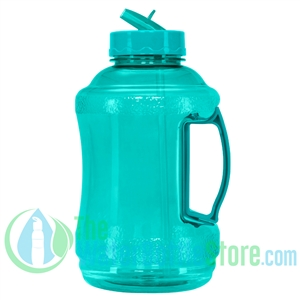 Half Gallon 56oz Aqua Water Bottle Straw Handle