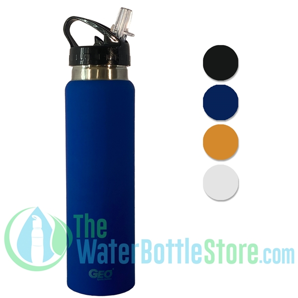 GEO 17oz Single Walled Insulated Stainless Water Bottle