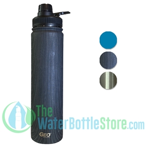 GEO 25oz Double Walled Insulated Stainless Water Bottle