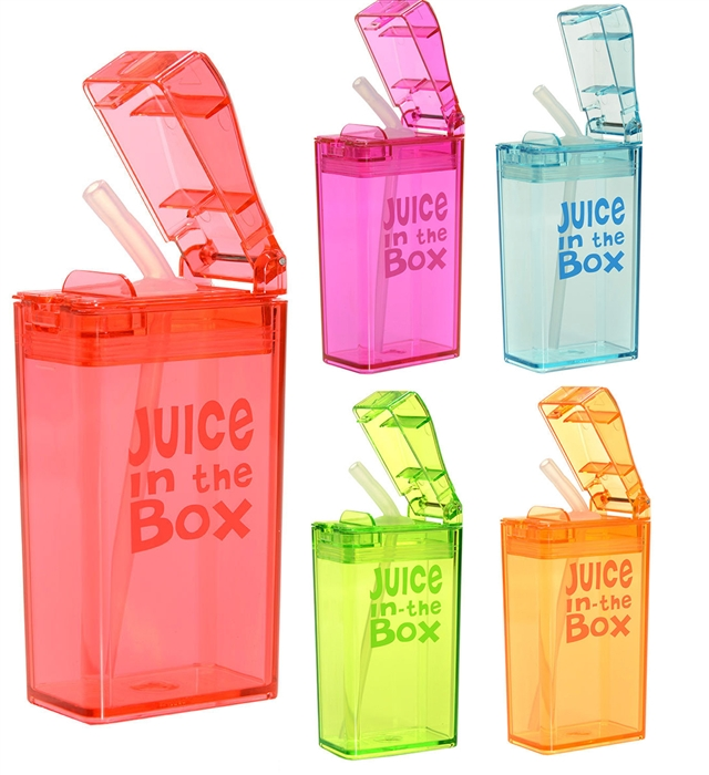 Juice in the Box 8 oz Kids Water Bottle with Straw