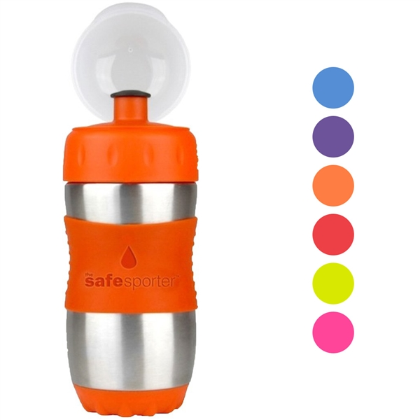 12oz BPA Free Safe Sporter Water Bottle for Kids Lunch boxes by Kid Basix