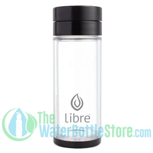 Libre 14 oz Glass Infuser Bottle Basic Black