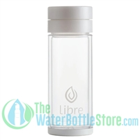 Libre 14 oz Glass Infuser Water Bottle White Pearl