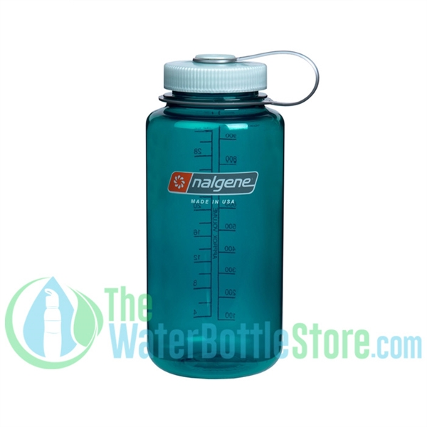 Nalgene 32 Ounce Wide Mouth Water Bottle Trout Green