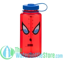 Nalgene 32 Ounce Spiderman Eyes Wide Mouth Water Bottle