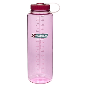 Nalgene 48 Ounce Wide Mouth Water Bottle Silo Cosmo Bottle With Beet Red Cap