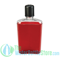 Nalgene 10 Ounce Red Flask with Black Cap