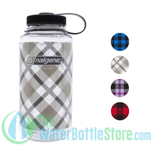 Nalgene 32 Ounce Wide Mouth Water Bottle Plaid Print
