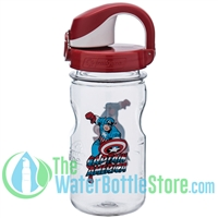 Nalgene 12 Ounce On The Fly Captain America Wide Mouth Water Bottle For Kids