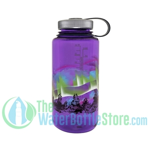 Nalgene 32 Ounce Wide Mouth Purple Water Bottle With Earth Graphic