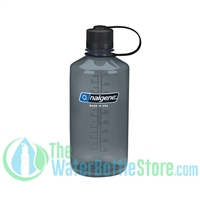 Nalgene 32 Ounce Narrow Mouth Water Bottle Tritan Gray