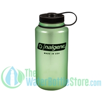 Nalgene 32 Ounce Wide Mouth Water Bottle Glow Green