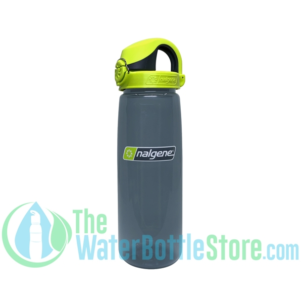 Nalgene On the Fly - OTF - Charcoal Water Bottle with Lime Cap
