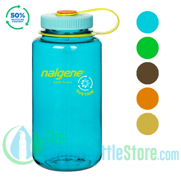 Nalgene 32 Ounce Wide Mouth Sustain Water Bottle