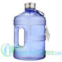 1 gallon round bpa free water bottle New Wave Enviro Steel Top