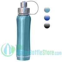 18oz  530ml Stainless Steel Insulated Water Bottle by New Wave Enviro