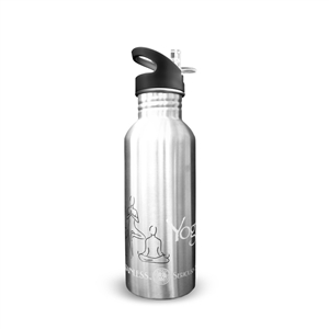 New Wave Enviro 20oz Stainless Steel Yoga Water Bottle