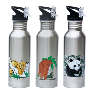 New Wave Enviro .6L (20oz) Stainless Steel Metal Water Bottle Endangered Species Collection