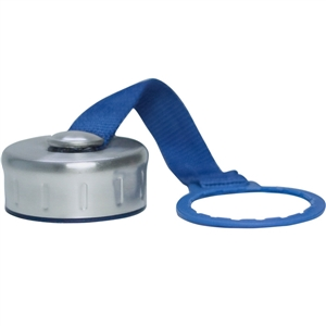 Stainless Steel Replacement Cap with Strap for New Wave Enviro 2.2L, 1L, 1Gallon Water Bottle
