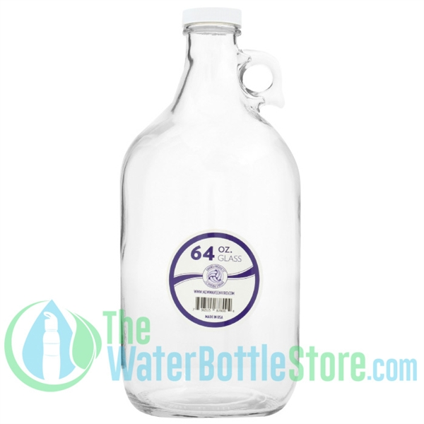New Wave Enviro 64oz(Half Gallon) Glass Jug Reusable Water Bottle
