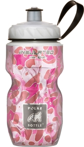 Polar 12 oz Pink Leopard Insulated Water Bottle