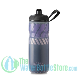 Polar 20 oz Insulated Water Bottle Sport Tempo Charcoal Pink