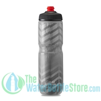 Polar 24 oz Insulated Water Bottle Breakaway Bolt Charcoal Silver