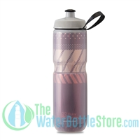 Polar 24 oz Insulated Water Bottle Sport Tempo Burgundy Coral