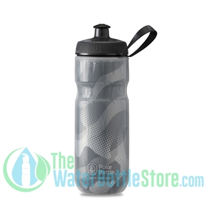 Polar 20 oz Insulated Water Bottle Sport Contender Charcoal Silver