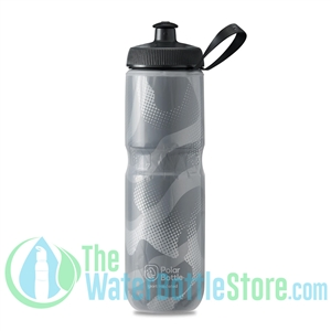 Polar 24 oz Insulated Water Bottle Sport Contender Charcoal Silver