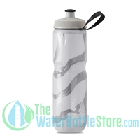 Polar 24 oz Insulated Water Bottle Sport Contender White Silver
