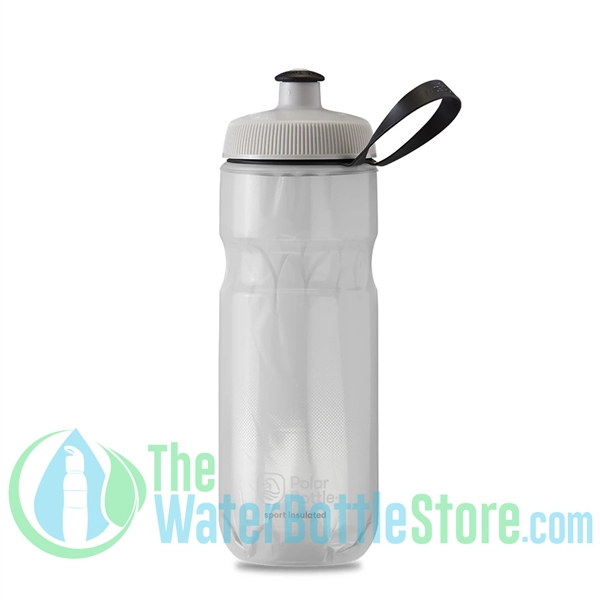 Polar 20 oz Insulated Water Bottle Sport Fade White Silver