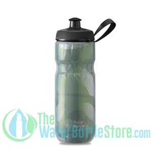 Polar 20 oz Insulated Water Bottle Sport Contender Olive Silver