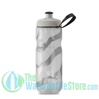Polar 20 oz Insulated Water Bottle Sport Contender White Silver