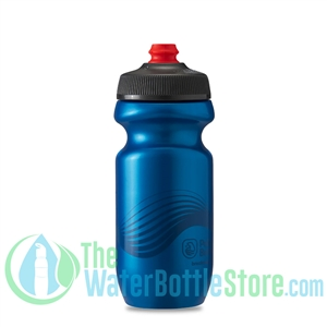 Polar 20 oz Breakaway Wave Water Bottle Blue Charcoal