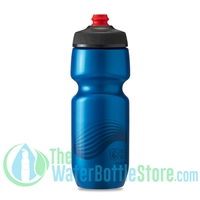 Polar 24 oz Breakaway Wave Water Bottle Blue Charcoal