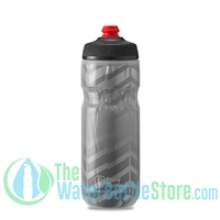 Polar 20 oz Insulated Water Bottle Breakaway Bolt Charcoal Silver