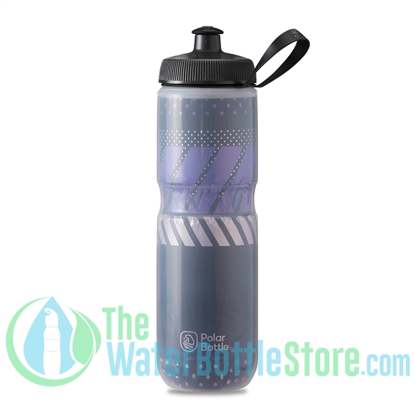 Polar 24 oz Insulated Water Bottle Sport Tempo Charcoal Pink