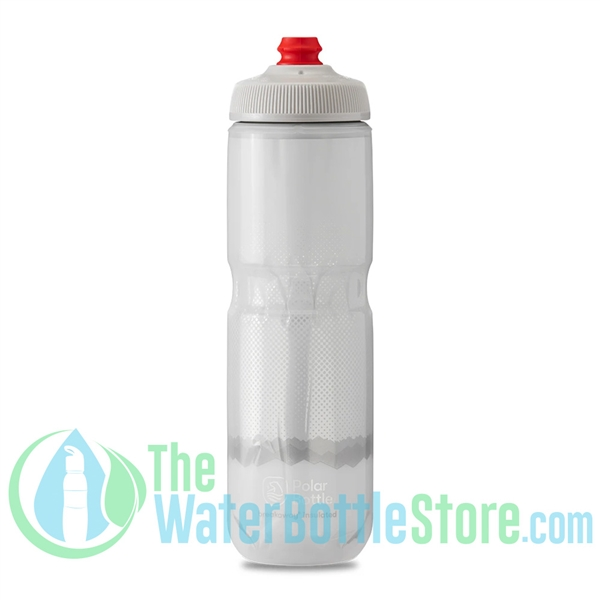Polar 24 oz Insulated Water Bottle Breakaway Ridge White Silver