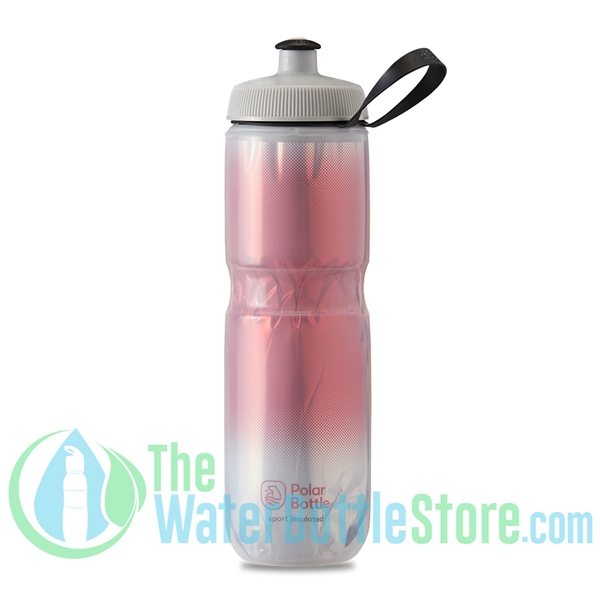 Polar 24 oz Insulated Water Bottle Sport Fade Red Silver