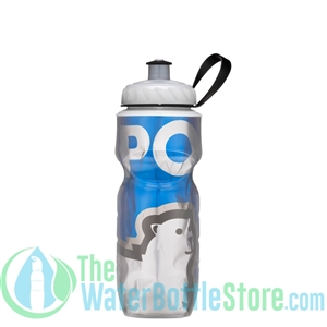 Polar 20 oz Blue Big Bear Insulated Water Bottle