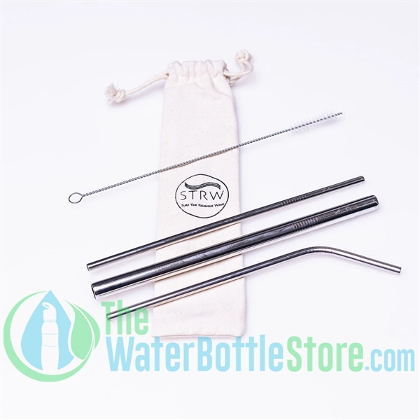 3-in-1 Stainless Steel Straw Silver