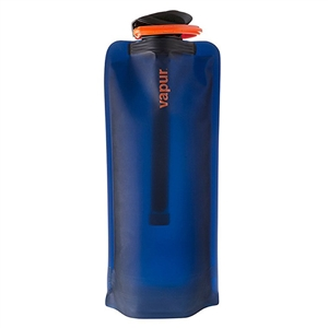 Vapur MicroFilter Bottle Set Night Blue 1 Liter (32oz) Collapsible Reusable Water Bottle